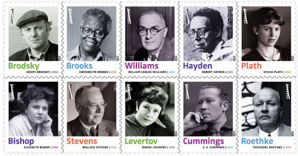 Twentieth Century Poets Stamps from the USPS
