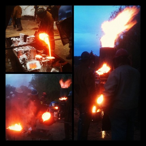 Iron pour success!!! Great Saturday  #Saturday #hardcore #metal #iron #foundry #sculpture #art (Taken with Instagram at Crab Tree Farm)