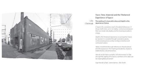 Trace Time, Material and the Thickened Experience of Space by Lila Cheimak