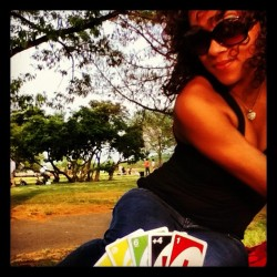 jaynupe:  #UNO in the park type of #relationship (Taken with instagram)