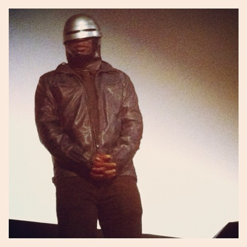 James Faust, who's really a cyborg, introduces #RoboCop at @TexasTheatre. #DIFF (Taken with instagram)