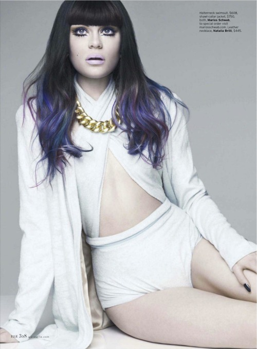impsychotic:  Jessie J by KT Auleta for Elle US May 2012