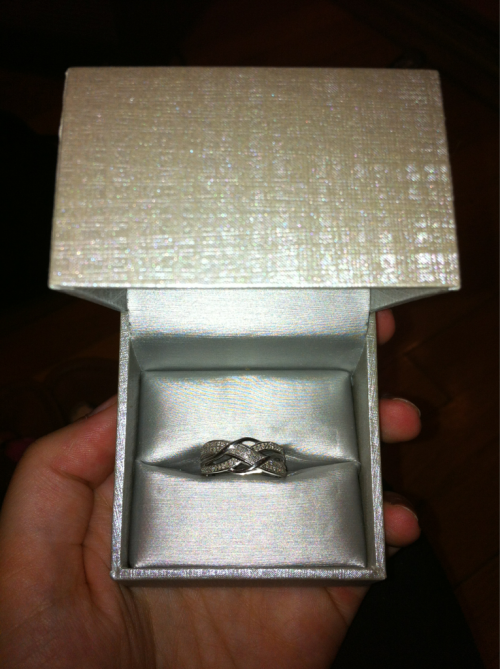 My amazing boyfriend bought me a diamond ring for my birthday. Even though he'll never see this post thank you James I love you so much! :*