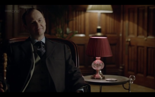 neon-hero:  WTF is that lamp, mycroft? Why is that in your office?  It was a gift. It's quite…tasteful.  MH