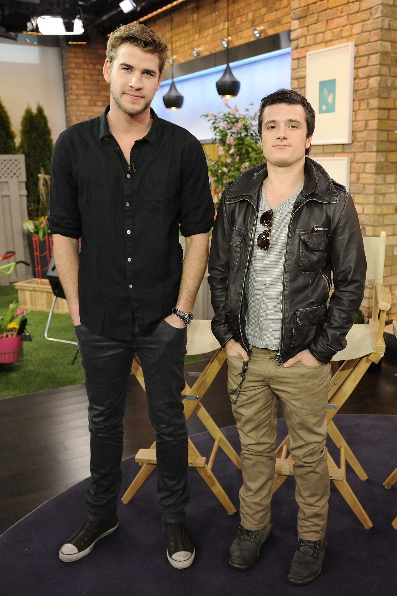 Liam Hemsworth & Josh Hutcherson, March 19th 2012 PICK HIM UP & KISS HIM!
