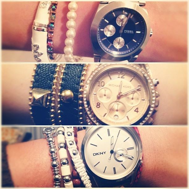 """borloloys"" @s3an13 @jjayzzzed #fossil #michaelkors #dkny #pandora #watches (Taken with Instagram at Barayrays.)"