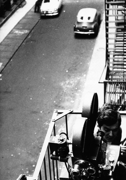 Stanley Kubrick in New York filming Killer's Kiss, 1955