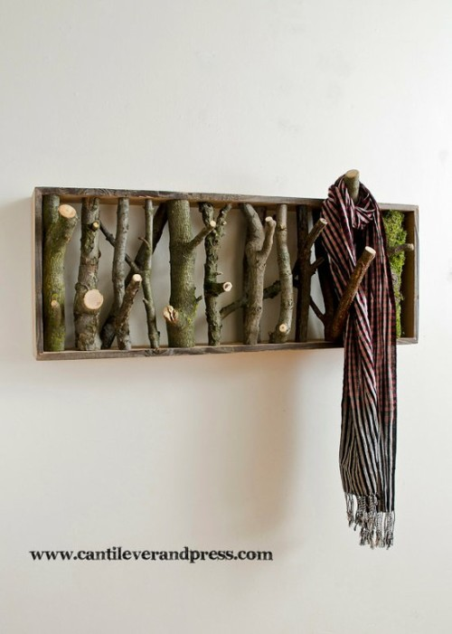wearerestless:  Coat Rack made from Tree Branches
