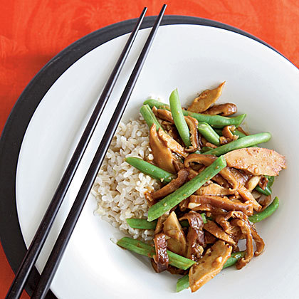 Seitan Stir-Fry with Black Bean Garlic Sauce Recipe