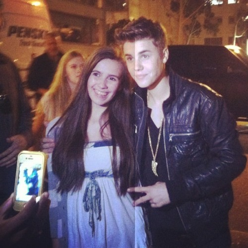 Justin today with a fan!