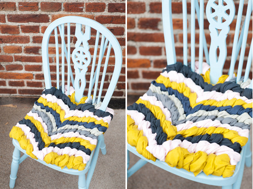 artpixie:  (via The House That Lars Built.: DIY Friendship bracelet chair cushion for design*sponge)