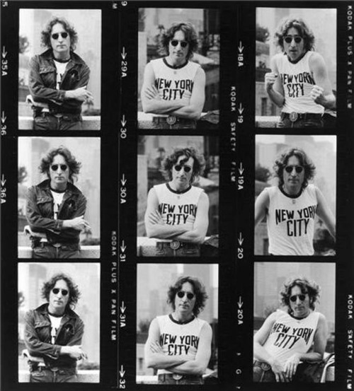 John Lennon photographed by Bob Gruen, New York, 1974