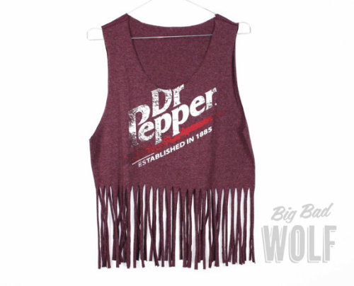 Take burgundy, add fringe and stir in Dr Pepper and you have perfection in a top.   Big Bad Wolf on Etsy