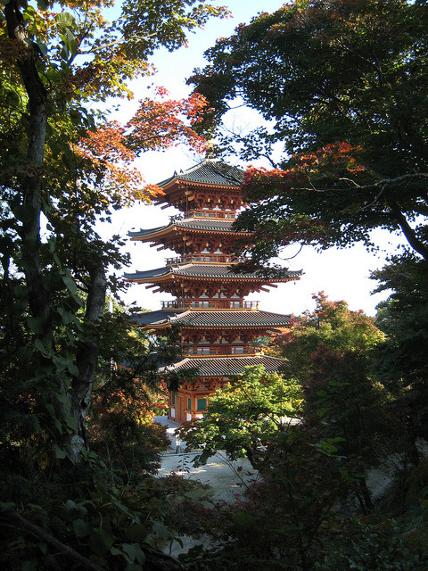skysignal:  Nariai-ji temple's pagoda by rangaku1976 on Flickr.