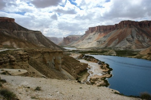 "(via 500px / Photo ""Heaven on Earth"" by Omar Sayami) Band-e-Amir National Park, Afghanistan"