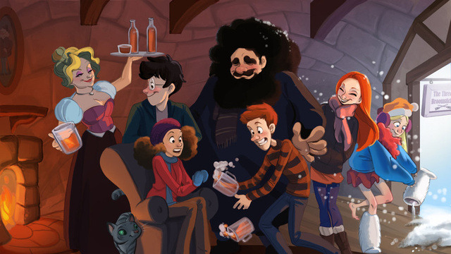 (via This Harry Potter art makes us long for an animated series)