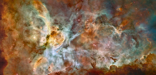 Hubble's 17th anniversary - extreme star birth in the Carina Nebula | Press Releases | ESA/Hubble