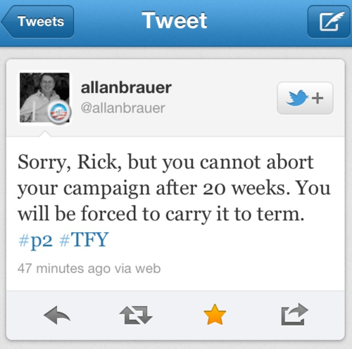 Sorry, Rick Santorum…[awesome tweet].