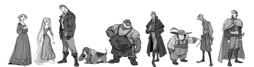 Crowley by Jin Kim Early villain in the old Rapunzel character line up. He appears more gypsy-like in his character line up image, sort of like Gypsy-Bastion. Rapunzel and her male companion seem to have had more dealings with gypsies in the earlier ideas for the film. Links to larger versions: Crowley-06 || Crowley-04 || old character line up Source: Jin Kim's blog, Cosmo Animato