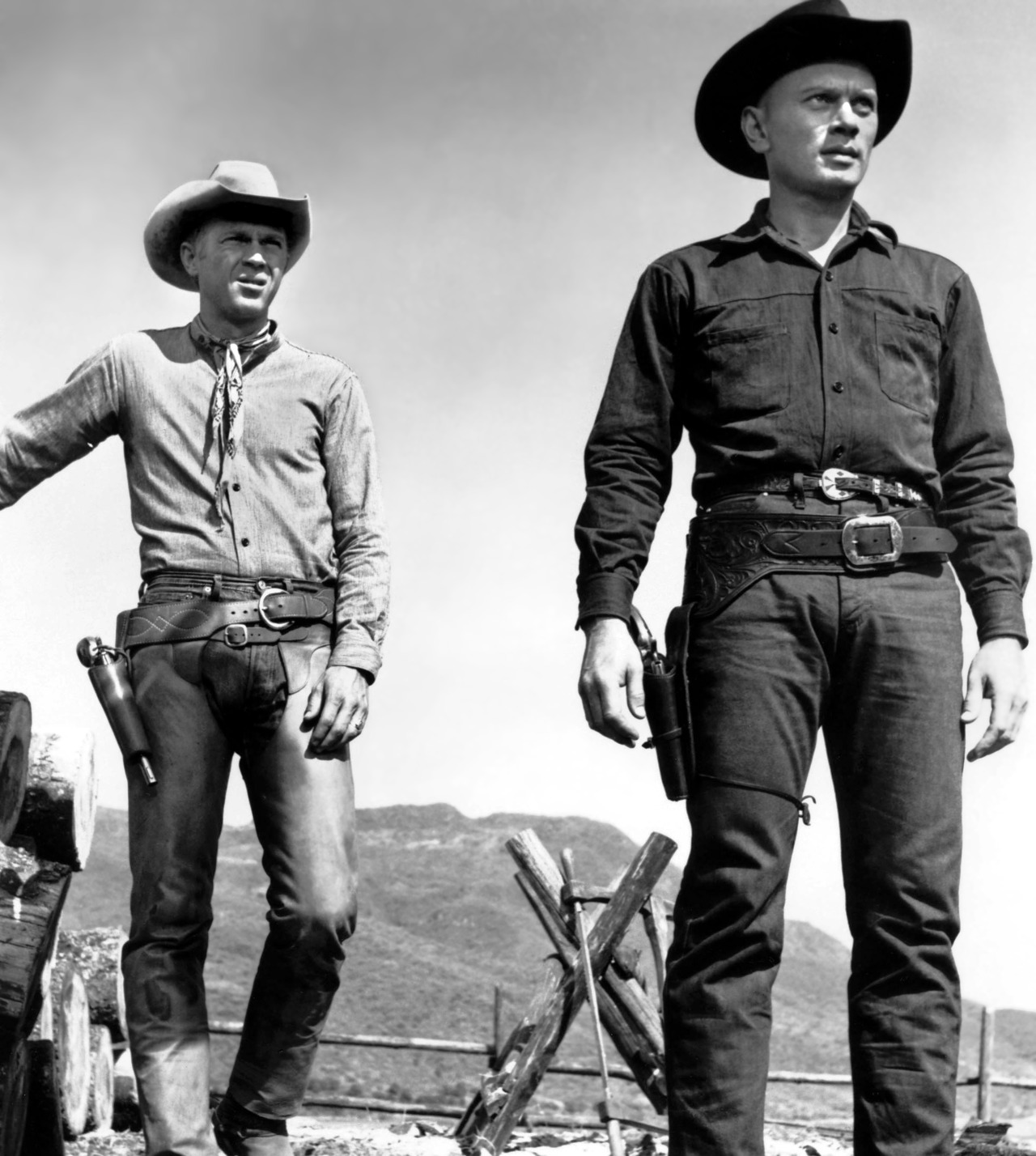 lifeofawhiskeydrinker:  gunsandposes:  Steve McQueen and Yul Brynner in The Magnificent Seven (1960)  I just don't think they will be able to make a better one…