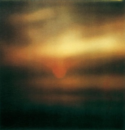Cy Twombly - Sunset, Gaeta 2009 Dryprint on cardboard 43.1 x 27.9 cm