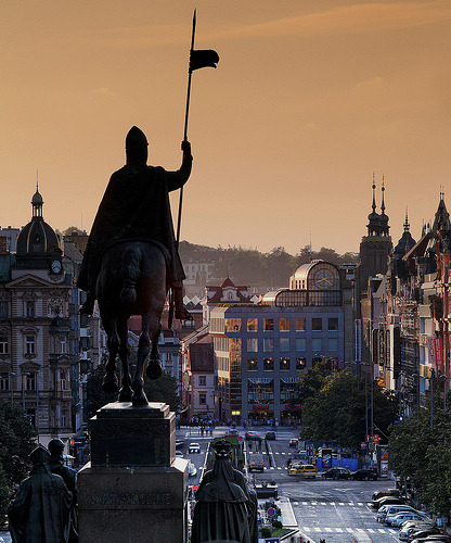 allthingseurope:  Wenceslas Square, Prague (by Robert Schüller)
