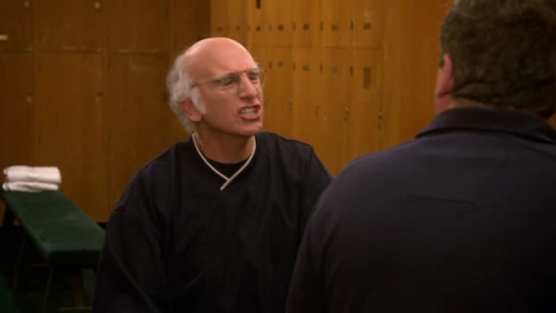 Larry David in my old country club, LCCC. Way too many times I drove by and DIDN'T go in despite LD being inside.