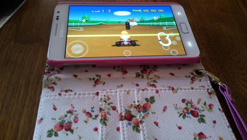 Super Mario Kart on my phone wee