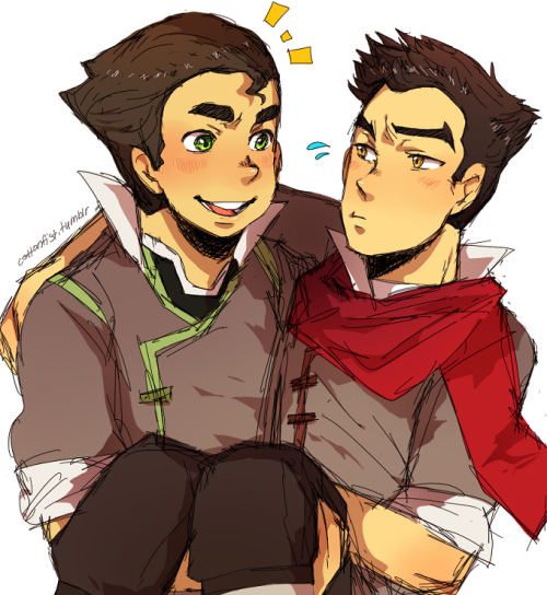 why isn't there more bromance fanart for bolin and mako yetFINE TUMBLR  I'll draw it myself