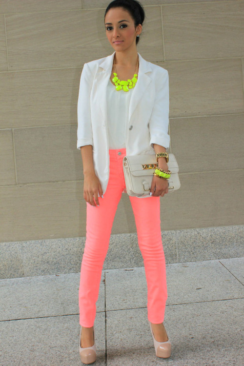 lookbookdotnu:  Neon from day to night. (by Mayte Hauxwell)