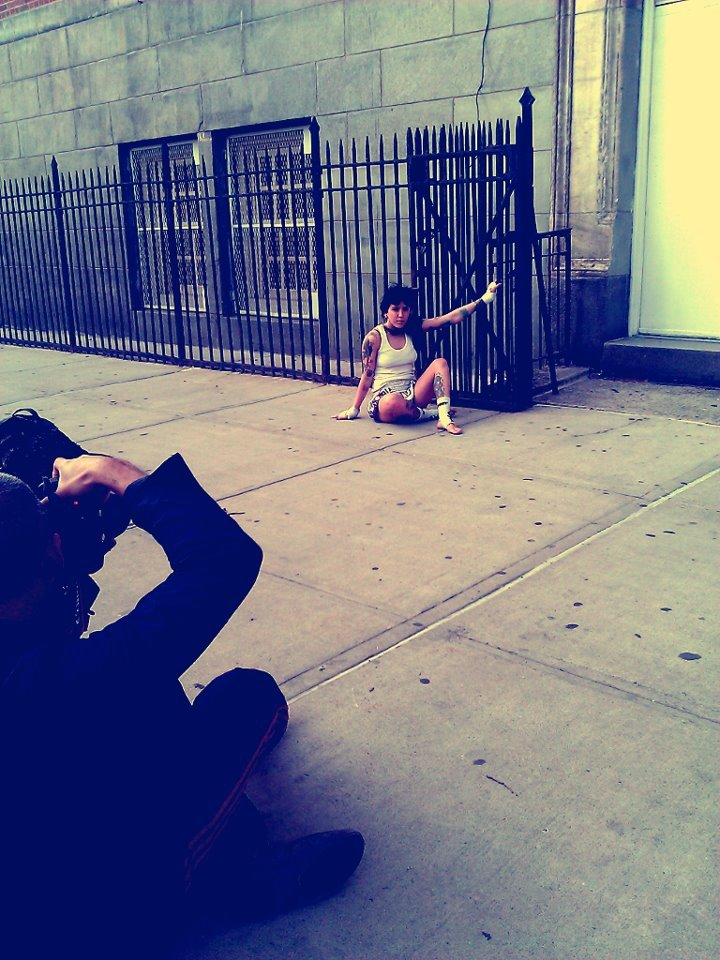 Behind the scenes picture of a photo shoot I was a part of yesturday. More to come.