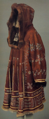folkthings:  Woman's coat/dress for a festive occasion of the Koryak people of Kamchatka