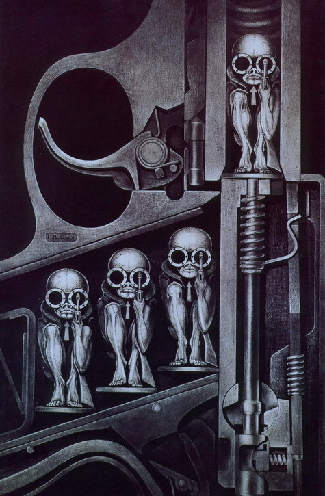 'Birth Machine' by H. R. Giger. My favorite piece of his.