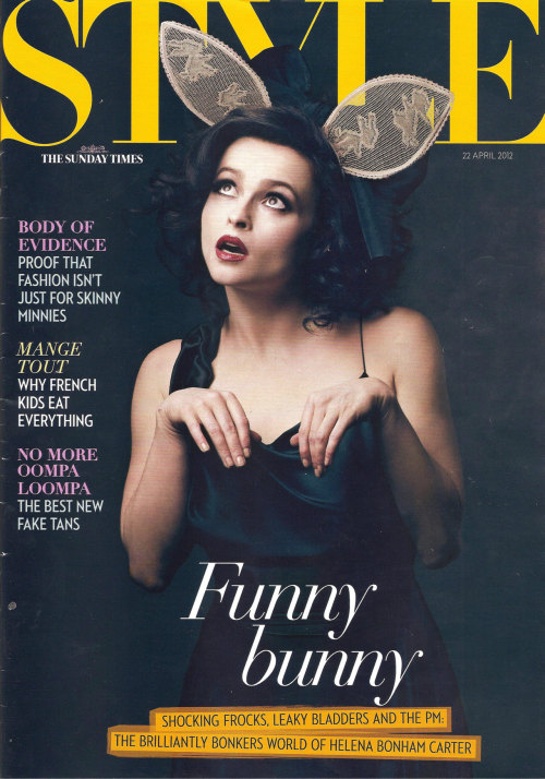 froggyfroggyfroggy:  How great does Helena Bonham Carter look on the cover of Style? She's so gorgeous.