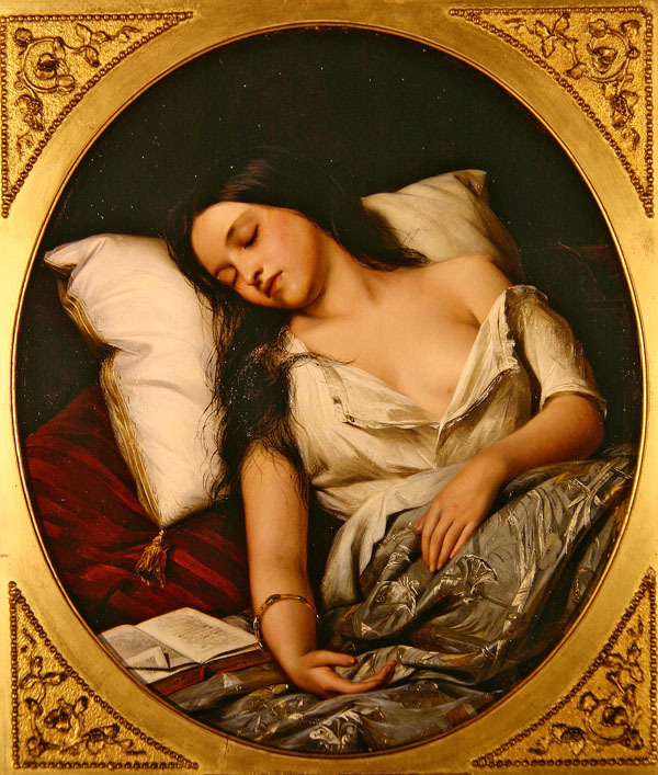 23silence:  Henry Nelson O'Neil - Pleasant Dreams, 1852