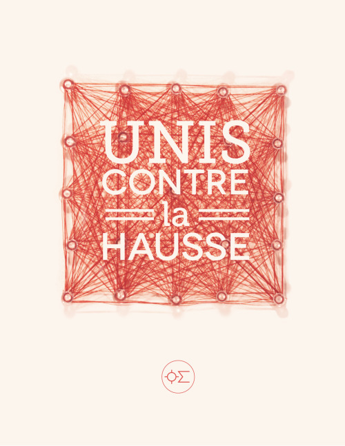 Unis contre la hausse, submission for a collective book about the Social movement in Québec by oil and sugar. oilandsugar.com