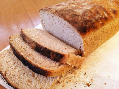 Half n' Half Rosemary Loaf by Veganbaking.net on Flickr.more!
