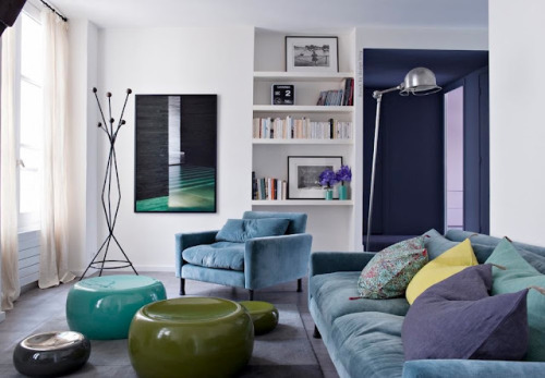musesofdesign:  (via French By Design: A colorful flat in the heart of Paris)