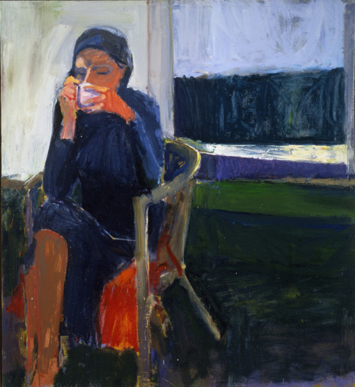 "i12bent:  Richard Diebenkorn: Coffee, 1959 - oil on canvas (SFMoMA) ""Richard Diebenkorn grew up in San Francisco and attended Stanford University, and later the California School of Fine Arts (now the San Francisco Art Institute). Although well established as an abstract painter, Diebenkorn returned to figuration in the mid-1950s. He incorporated the dominant expressive painting style into representational canvases, often landscapes."" (Source: San Francisco Museum of Modern Art)"
