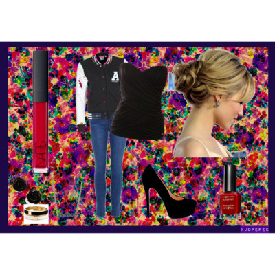 Things I Want by pinkpartiez featuring a haircareGUESS topAdidas jacketJ Brand jeans, £245Pumps, 150 AUDBetsey Johnson bracelet, $35Earrings, $9.99Disney Couture necklace, £1.95NARS Cosmetics lip gloss, £19Max Factor nail polish