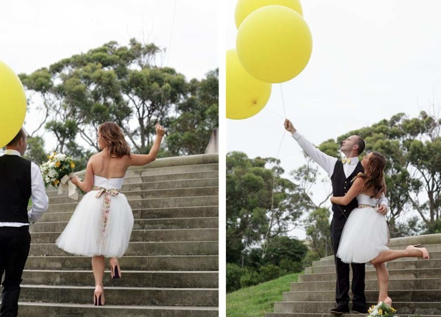 Wedding Balloons, so CUTE!