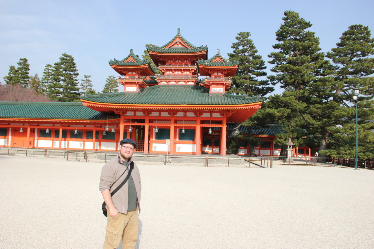 polackstravels:  Me, posing at the Heian Shrine in Kyoto, Japan