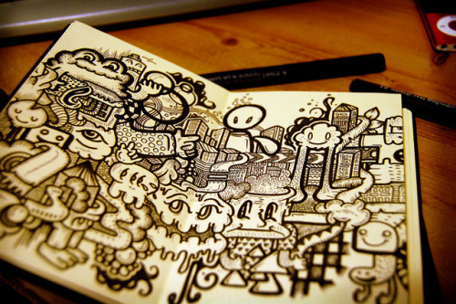 Japanese sketchbook by Sam-Cox on Flickr.