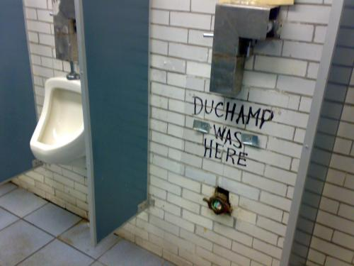 """duchamp was here""  (via woostercollective)"
