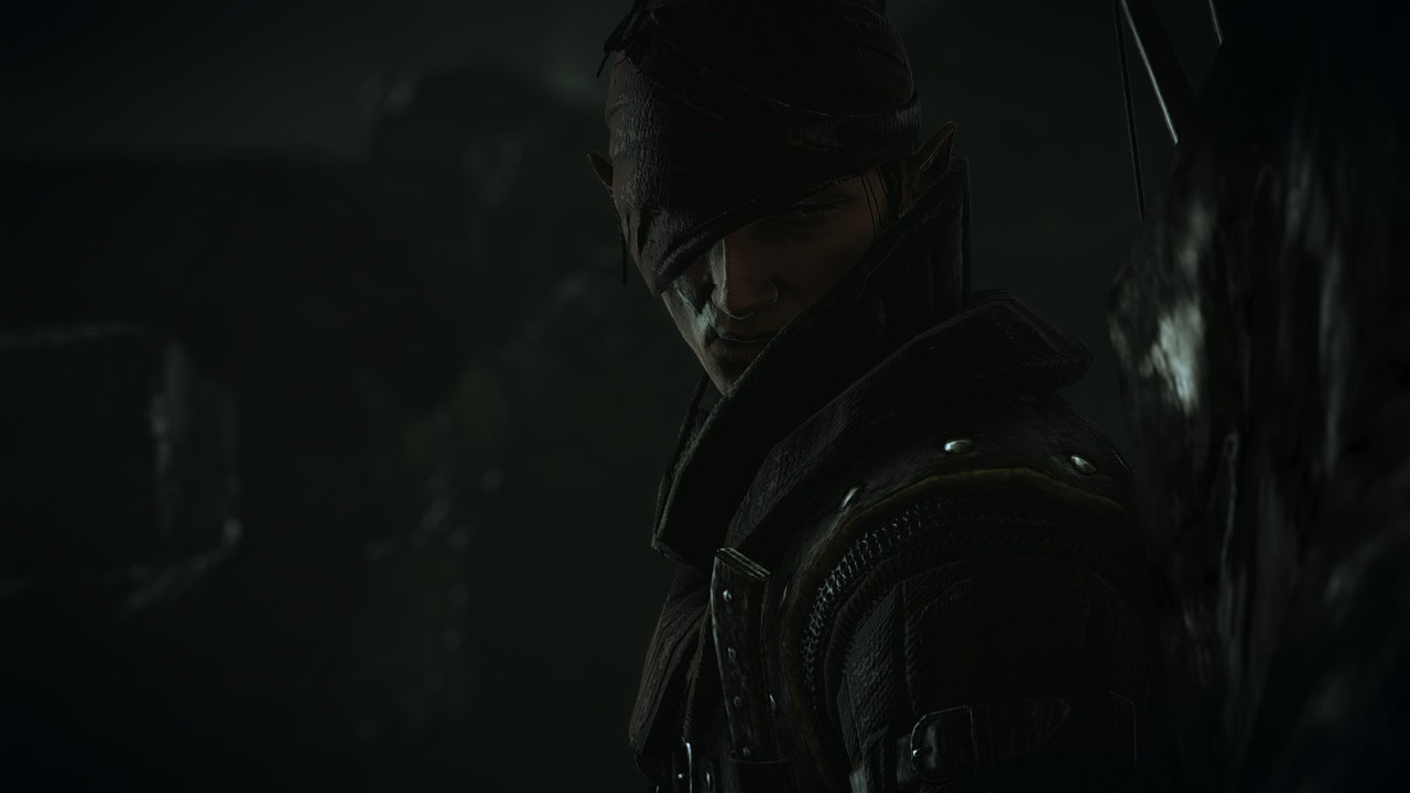 "Iorveth looking pretty bad-ass this afternoon during my replay through the now ""enhanced edition"" of this already amazing awesome game."