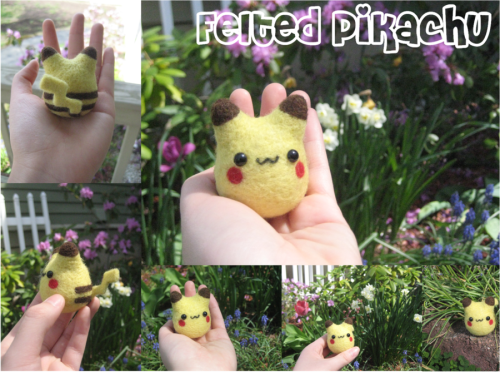 rememberwhenyoufeltsogood:  Felted Pikachu Buy it from xxNostalgic  *ded*