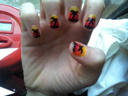 Sunset Nails! (: