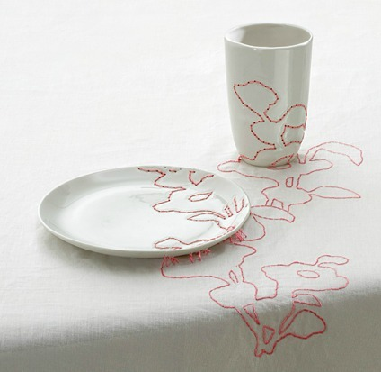 whitehotel:  Hella Jongerius, Embroidered tablecloth (1999)