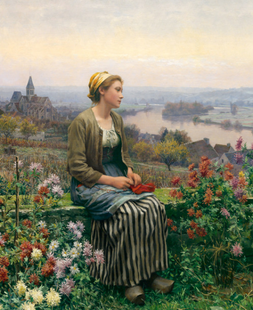 historical-paintings:  Daniel Ridgway Knight, Quiétude.