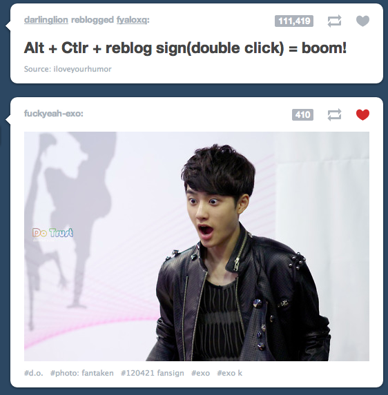 cholie:  D.O's feelings on the newly discovered alt + reblog.